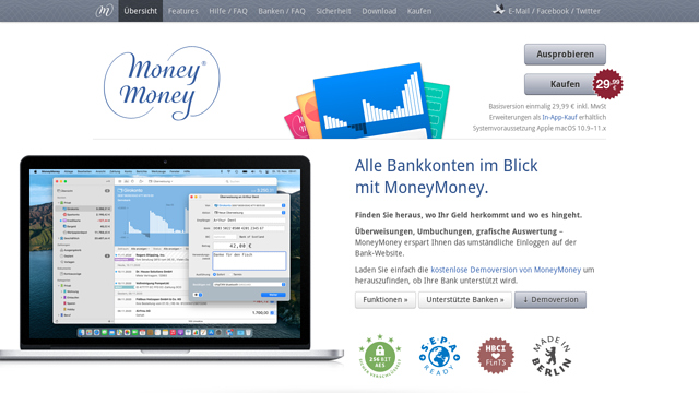 MoneyMoney API koppeling