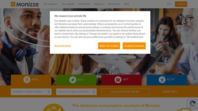 Monizze API koppeling