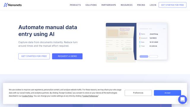 NanoNets API koppeling