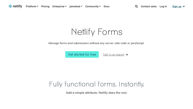 Netlify-Forms API koppeling