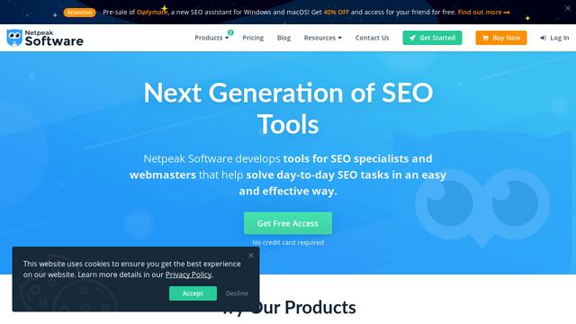 Netpeak-Software API koppeling