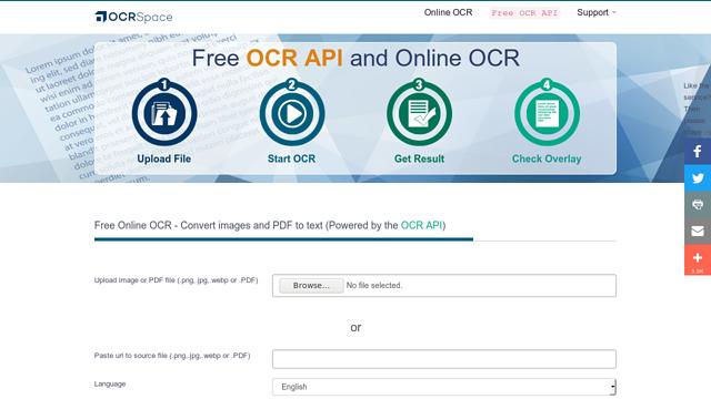 OCR.SPACE API koppeling