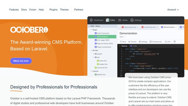 October-CMS API koppeling