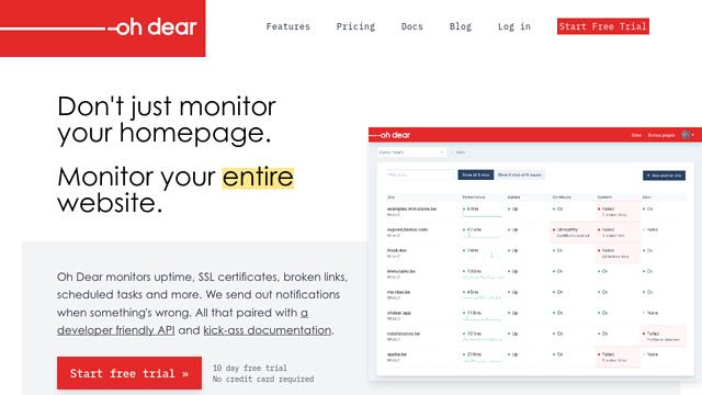 Oh-Dear! API koppeling