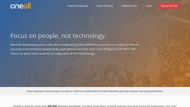 OneAll API koppeling