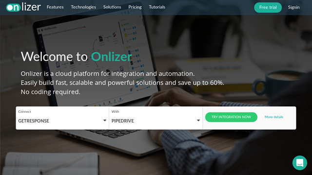 Onlizer API koppeling