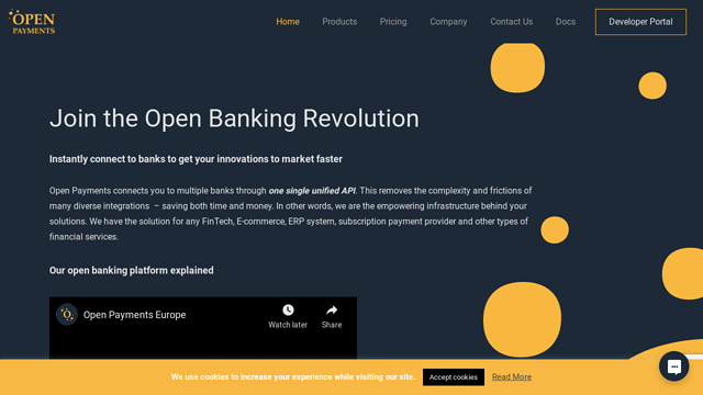 Open-Payments-Europe API koppeling