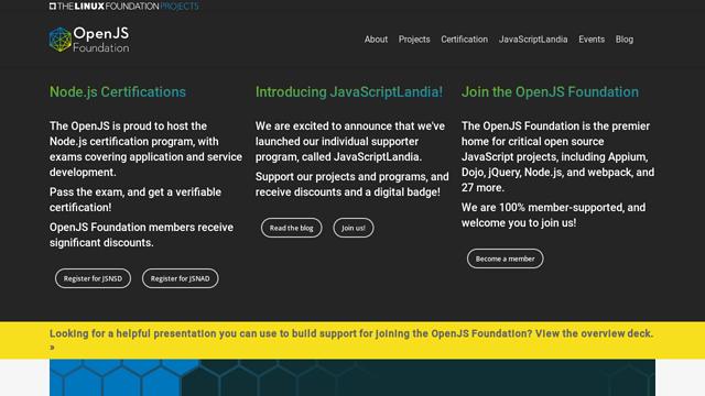 OpenJS-Foundation API koppeling