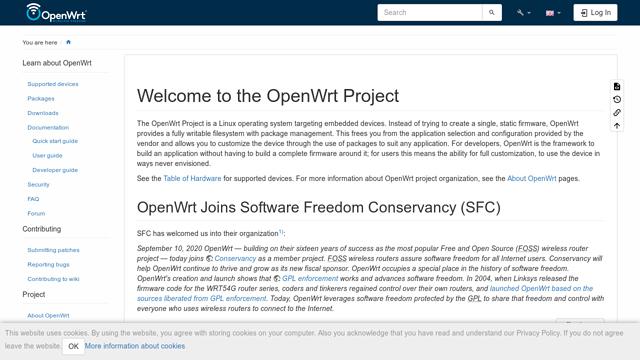 OpenWrt API koppeling