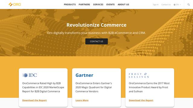 OroCommerce API koppeling