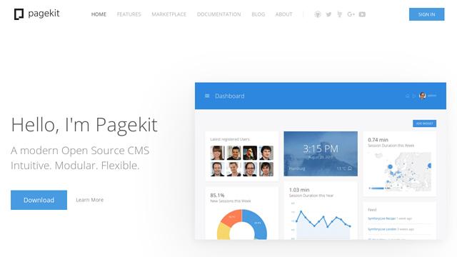 Pagekit API koppeling