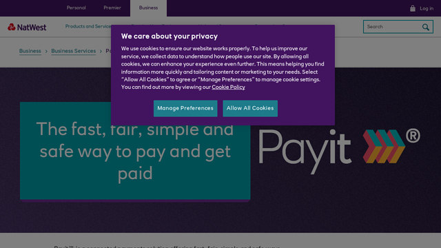 Payit™-by-NatWest API koppeling