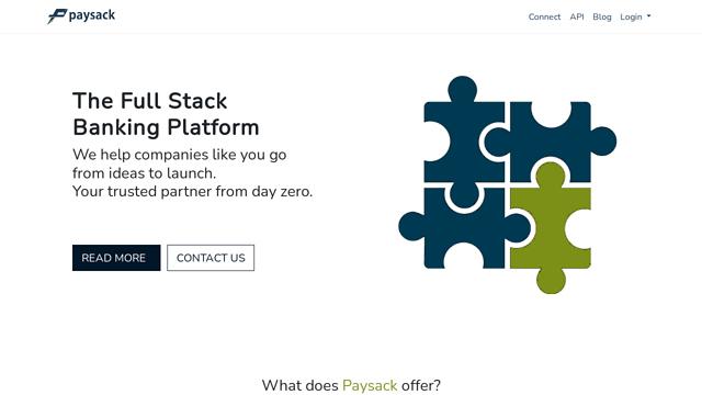 Paysack API koppeling