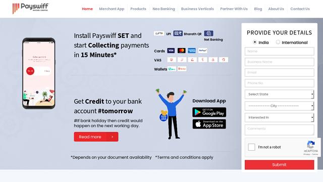 Payswiff API koppeling