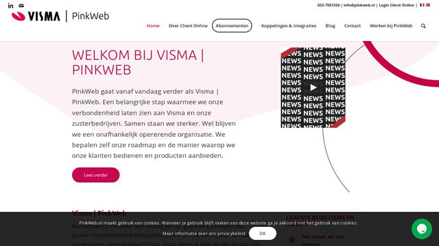 PinkWeb API koppeling