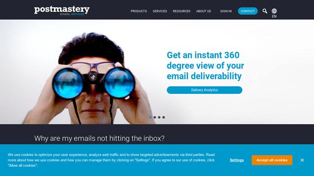 Postmastery API koppeling