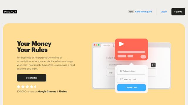 Privacy.com API koppeling