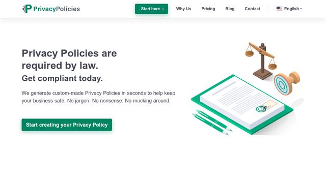 PrivacyPolicies.com API koppeling