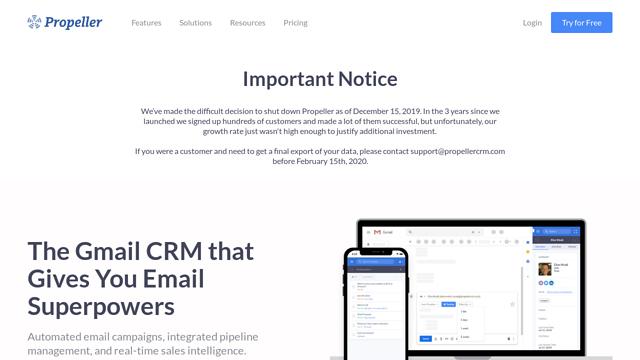 Propeller-CRM API koppeling