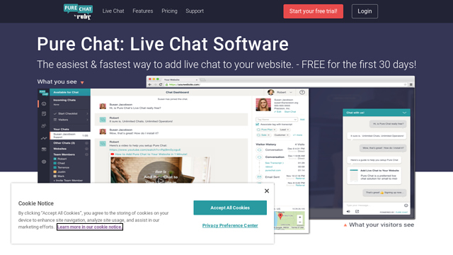 Pure-Chat API koppeling