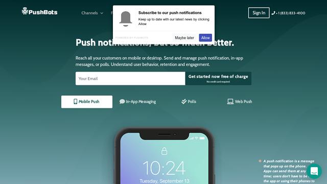 PushBots API koppeling