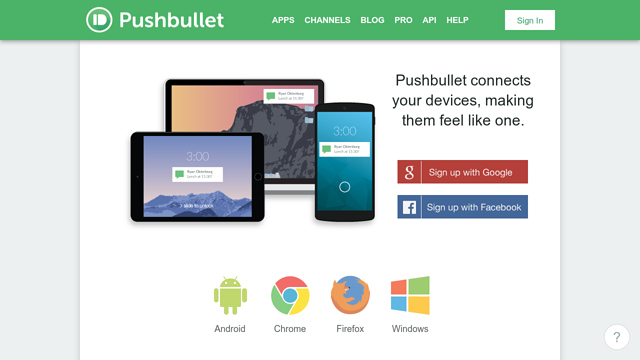 Pushbullet API koppeling