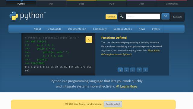 Python API koppeling