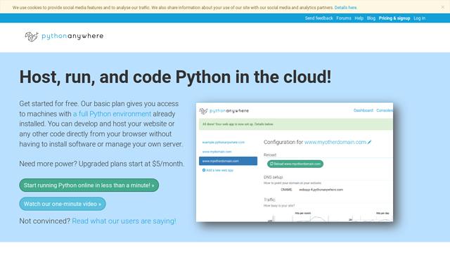 PythonAnywhere API koppeling