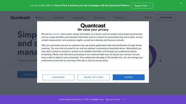 Quantcast-Choice API koppeling