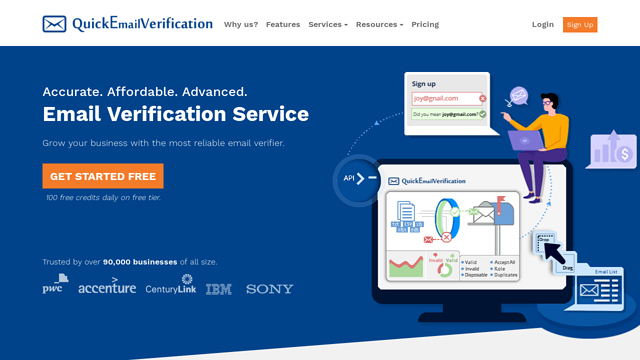 Quick-Email-Verification API koppeling