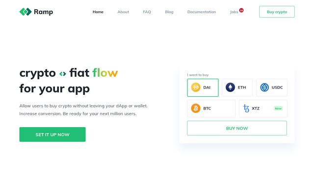 Ramp-Network API koppeling