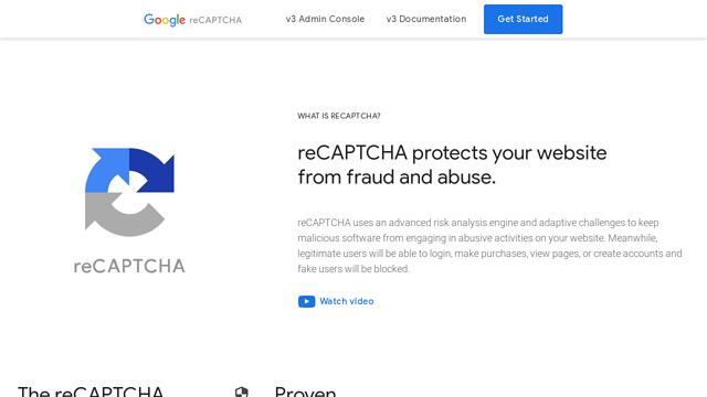 reCAPTCHA API koppeling
