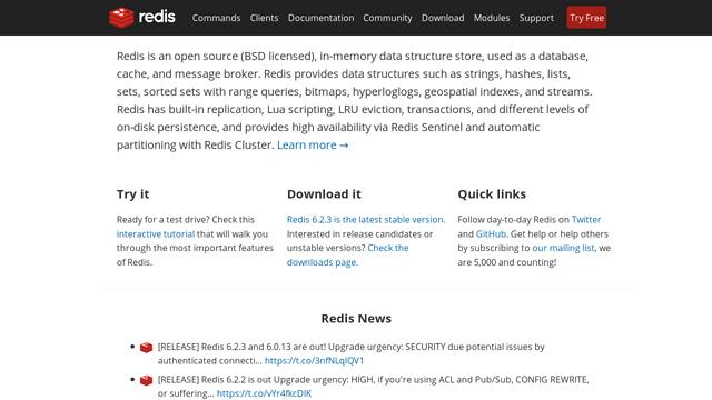 Redis API koppeling