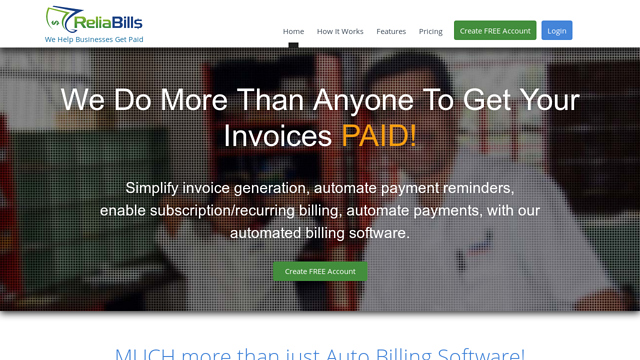 ReliaBills API koppeling