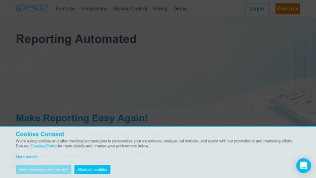 Reportz API koppeling