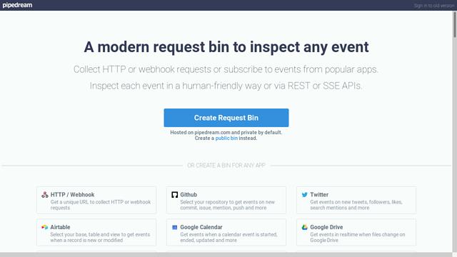RequestBin API koppeling