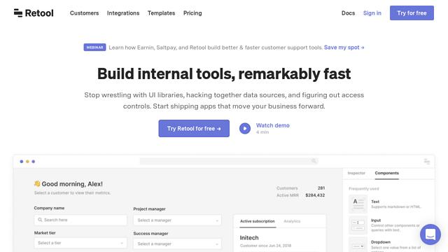 Retool API koppeling