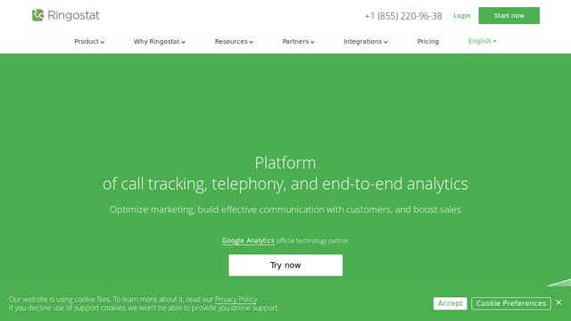 Ringostat API koppeling