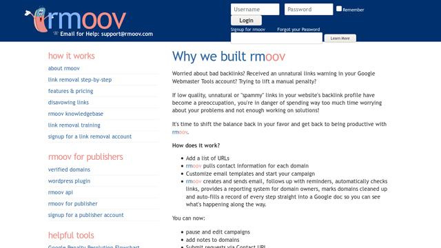 rmoov API koppeling