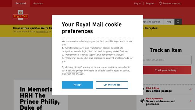 Royal-Mail API koppeling