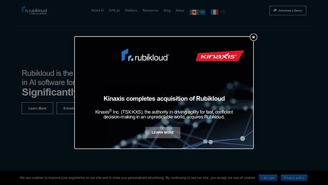 Rubikloud-Technologies API koppeling