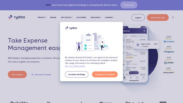 Rydoo API koppeling