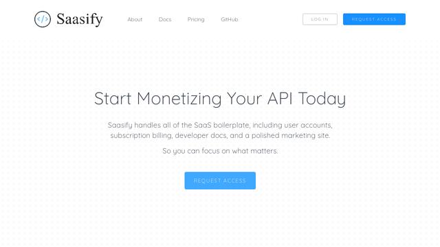 Saasify API koppeling