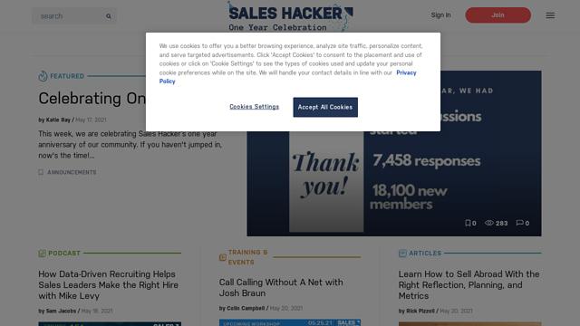 Sales-Hacker API koppeling