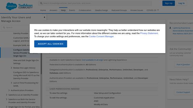 Salesforce-SAML API koppeling