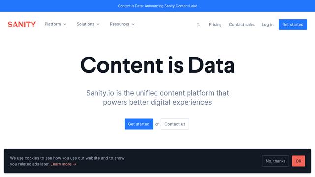 Sanity.io API koppeling