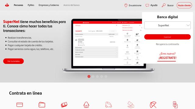 Santander-México API koppeling