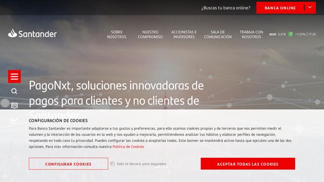 Santander API koppeling