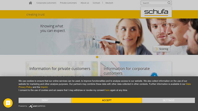 SCHUFA-Holding API koppeling