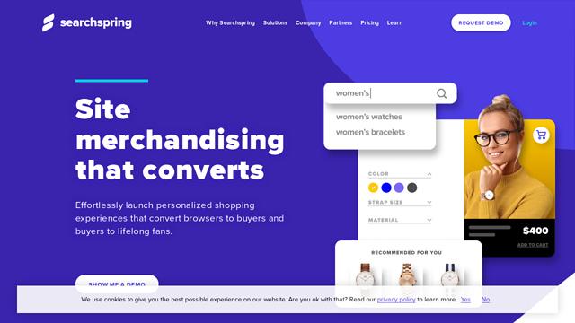 SearchSpring API koppeling